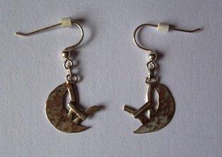Zilver oorbel vissen
