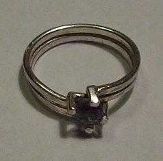Zilver ring boven