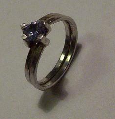 Zilver ring zijkant